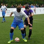 blind footballers